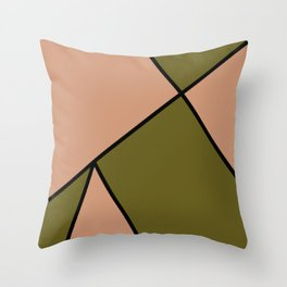 Antique Brass and Antique Bronze Abstract Pattern Throw Pillow