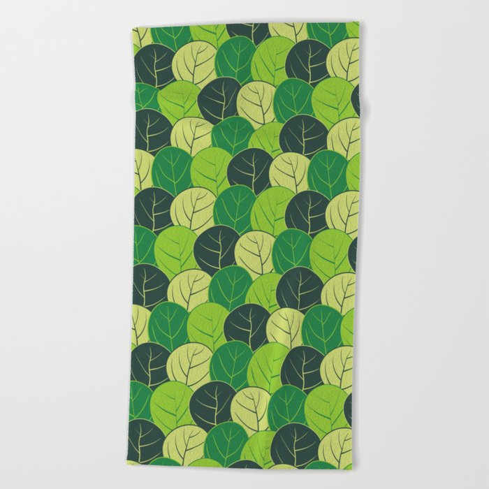 Spring forest Beach Towel