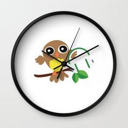 Owls Music Lovers Musicians Nocturnal Birds Night Hunter Animals Wildlife Wilderness Gift Wall Clock
