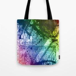 Rainbow Grunge Tote Bag