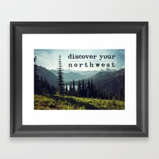discover your northwest- mountains Framed Art Print