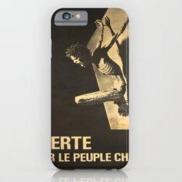 Advertisement liberte pour le peuple chilien iPhone Case