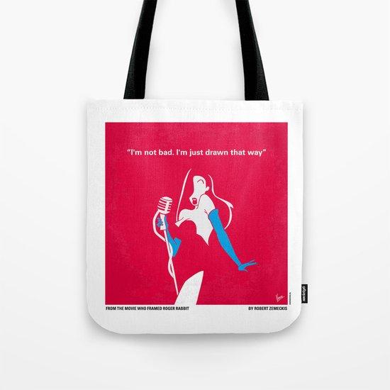 No271 My ROGER RABBIT minimal movie poster Tote Bag
