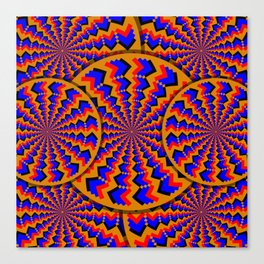 Hacking Visual System Optical Illusion Canvas Print