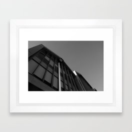black and white building abstract Framed Art Print