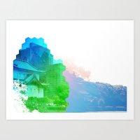 ying yang Art Prints featuring Ying Yang by Kamero Designs