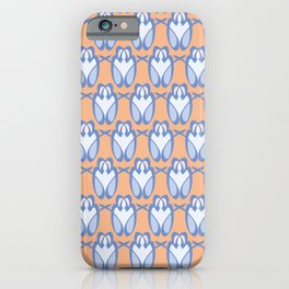Blue and Orange Organic Loops Pattern iPhone Case