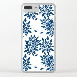 Blue abstract flowers . 2 Clear iPhone Case