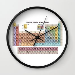 Periodic Table Of Movie Genres Wall Clock
