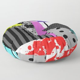 Pick A pattern II - geometric, textured, colourful, splatter, stripes, marble, polka dot, grid Floor Pillow