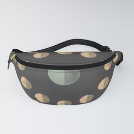Antique Astronomy Moon Phases Fanny Pack