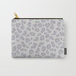 Jungle - Leopard Pattern Pale Gray Dusty Light Grey Carry-All Pouch