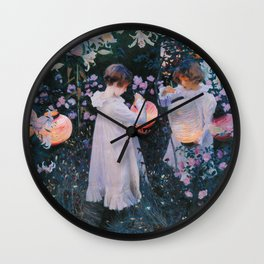 John Singer Sargent - Carnation, lily, lily, rose Wall Clock