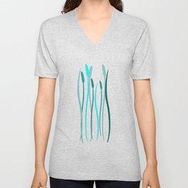 Turquoise Grasses Unisex V-Neck