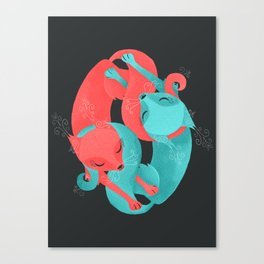 'Round Their Throats Canvas Print