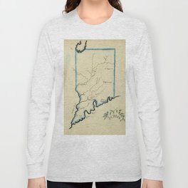 Vintage Map of Indiana (1823) Long Sleeve T-shirt