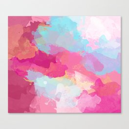 Colorful Abstract - pink and blue pattern Canvas Print