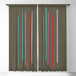 Five Minimal Abstract Colorful Stripes 05 Blackout Curtain