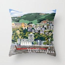 Wellington Harbour, NZ Throw Pillow