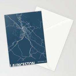 Launceston Blueprint Street Map, Launceston Colour Map Prints Stationery Cards