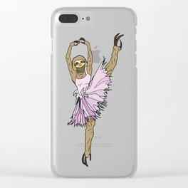 Sloth Ballerina Tutu Clear iPhone Case