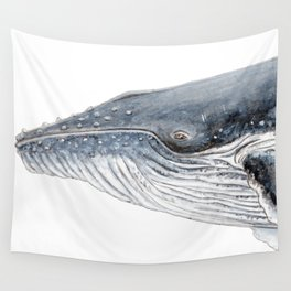 Humpback whale portrait Wall Tapestry
