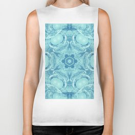 Bubbling to the surface in baby blue Biker Tank