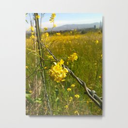 Touching Yellow Metal Print