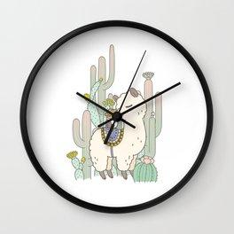 Alpaca Kiss Wall Clock