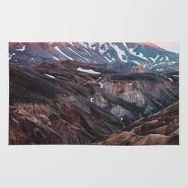 Multicoloured Hills of Landmannalaugar, Iceland Rug