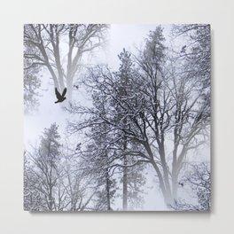 Winter Raven... Metal Print