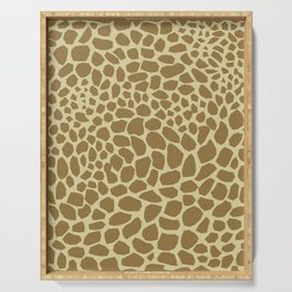 Giraffe Print Serving Tray