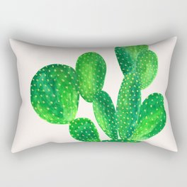 Bunny ears cactus Rectangular Pillow