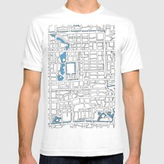 Central Beijing White Mens Fitted Tee MEDIUM