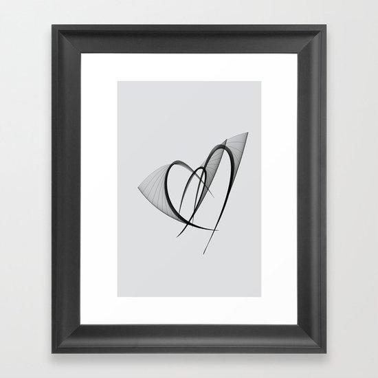 fluttering hearts Framed Art Print