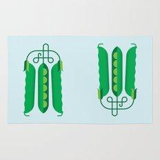 Vegetable: Snap pea Rug