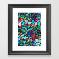 Colorful Abstract Waves Framed Art Print
