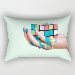 MELTING RUBIKS CUBE Rectangular Pillow