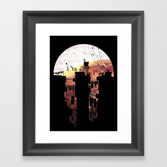 Kite Parkour Framed Art Print