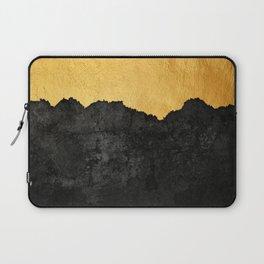 Black Grunge & Gold texture Laptop Sleeve