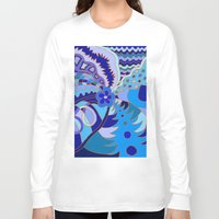 30 rock Long Sleeve T-shirts featuring Abstract 30 by Linda Tomei