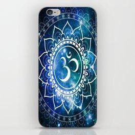 Om Mandala : Blue Green Galaxy iPhone Skin