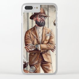 Coffee King Clear iPhone Case