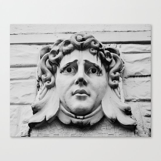 Face of stone Canvas Print