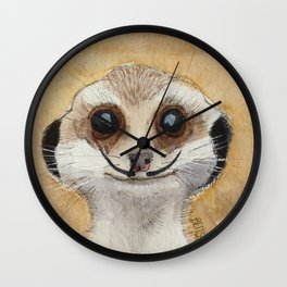 Meerkat 'Stache Wall Clock