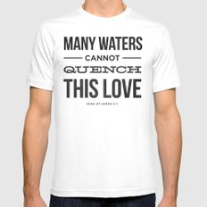 Many Waters Mens Fitted Tee White SMALL