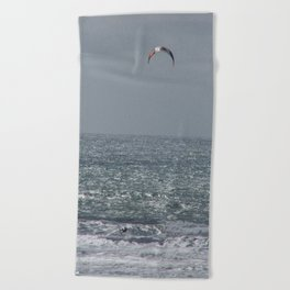 Surfing with the wind Beach Towel