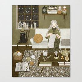 knitting magic Canvas Print