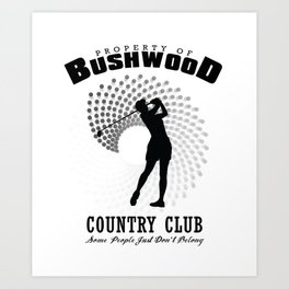 Bushwood Country Club Art Print
