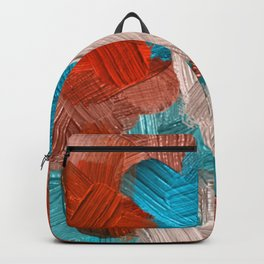 32 | Abstract Expressionism| 210210| Digital Abstract Art Textured Oil Painting Backpack